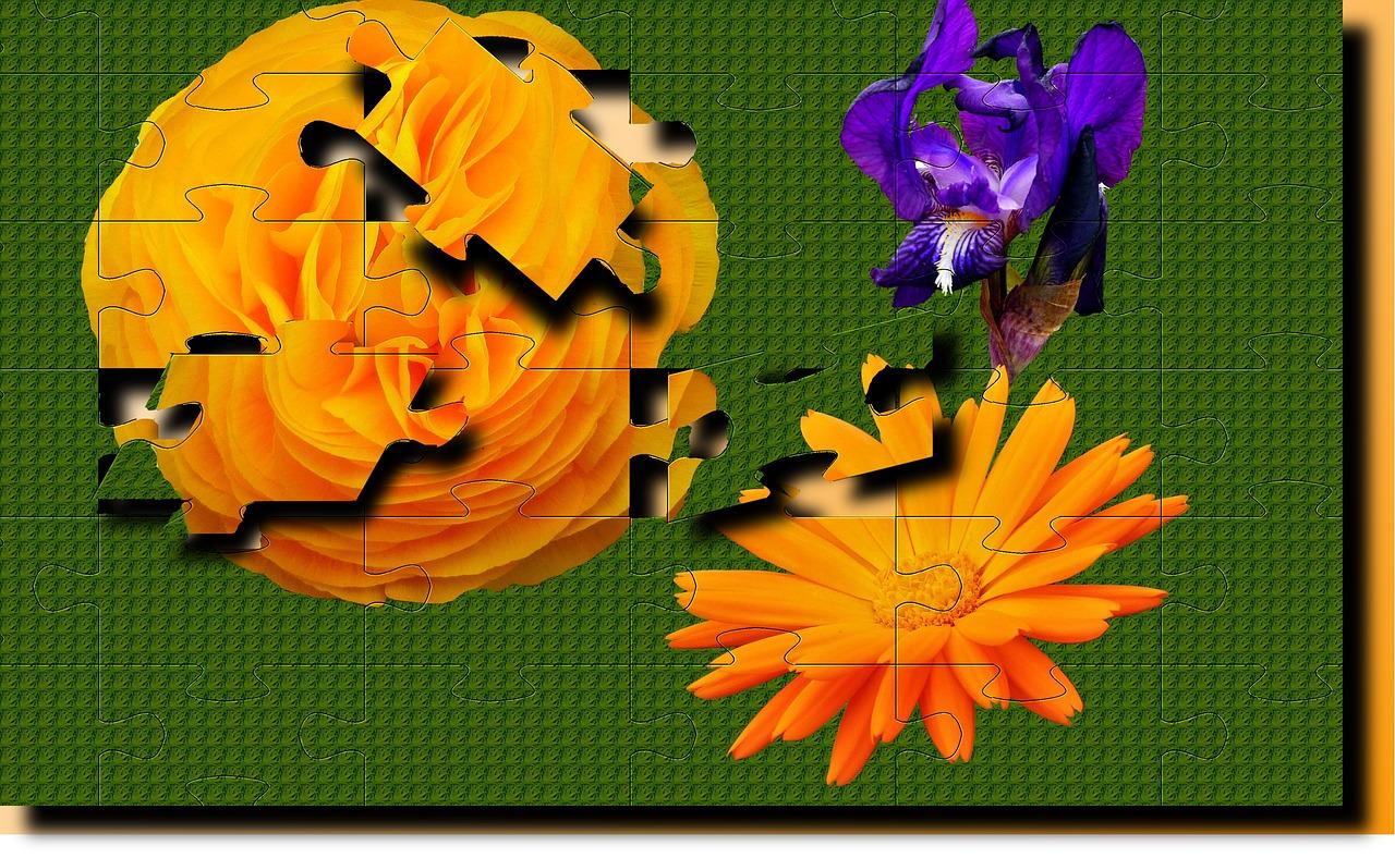 Skládačka květin