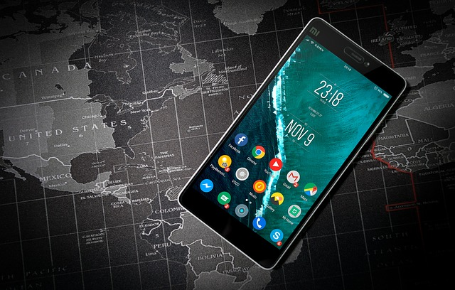 mobil na mapě